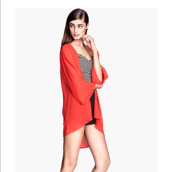 e288ebeaff H M Other - H M chiffon Neon coral cover up